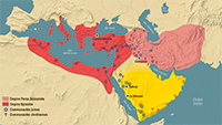 The Mediterranean world and the Middle East at the beginning of the 7th century