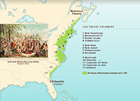 Foundation of the 13 American colonies