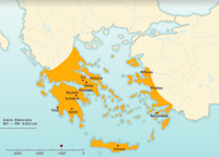 Ancient Greece Map With Cities.Discover The History Of Ancient Greece And The Hellenistic World