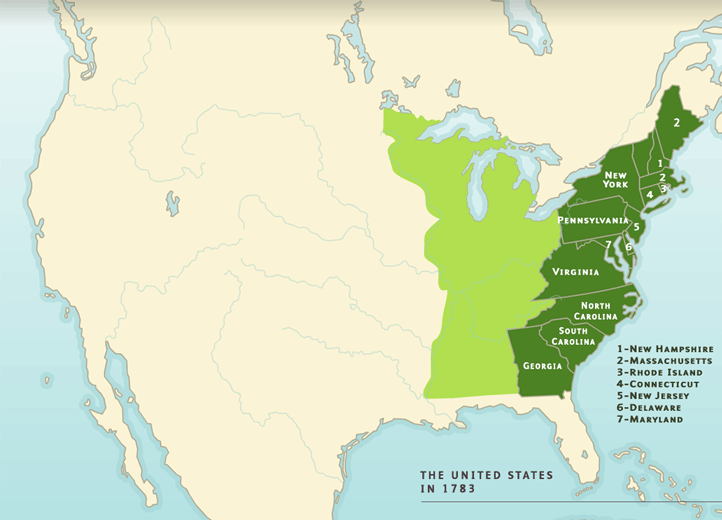 Map 9f America.A Territorial History Of The United States