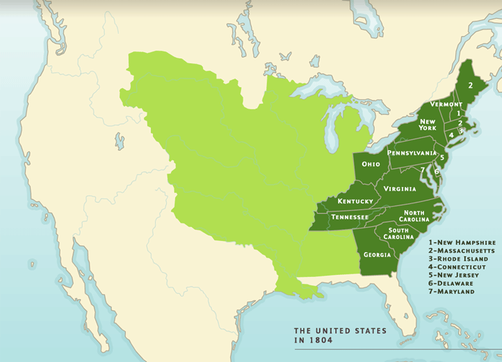 Map Of States In The Usa.A Territorial History Of The United States